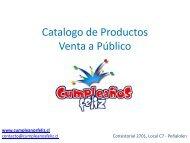 Catalogo de Productos Valores Venta a Publico