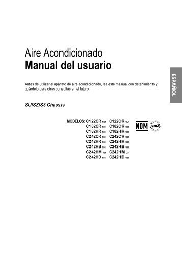 Aire Acondicionado Manual del usuario - LG Electronics