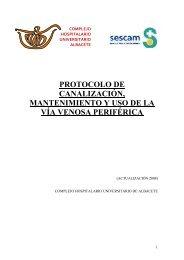 Protocolo de canalizacin, mantenimiento y uso de la va venosa