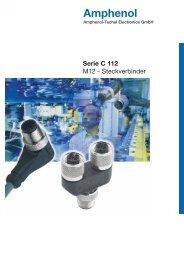 Kabelstecker/Kabeldosen umspritzt Serie C112 - Amphenol-Tuchel