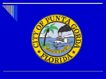 Overview of Canal Maintenance Ordinances - City of Punta Gorda