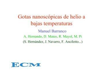 Gotas nanoscópicas de helio a bajas temperaturas - ECM