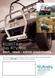 KUBOTA: Das RTV 900 - Kurt Schlotter KG