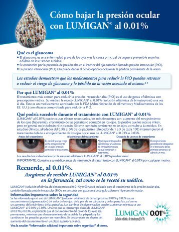 Cómo bajar la presión ocular con LUMIGAN® al 0.01% - Allergan