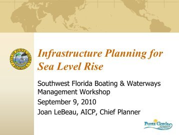Joan LeBeau, Chief Planner, City of Punta Gorda