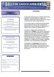 Boletin HIGIENE ALIMENTARIA 2011 - Ministerio de Salud