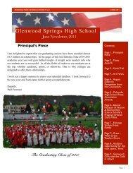 June 2011 Newsletter - Glenwood Springs High School