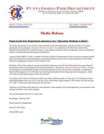 Media Release - City of Punta Gorda