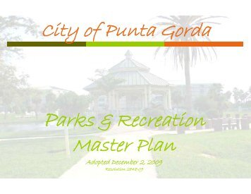 Click to view the Parks & Recreation Master Plan - City of Punta Gorda