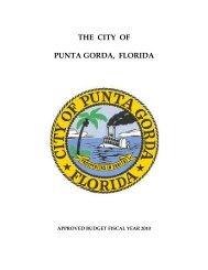 general fund revenues fy 2010 - City of Punta Gorda