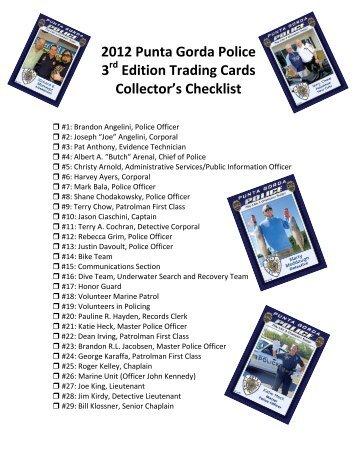 2010 Punta Gorda Police 3rd Edition Trading Cards Checklist
