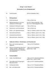 Anlage 1 zu § 4 Absatz 1 - Richtzahlen für den Stellplatzbedarf