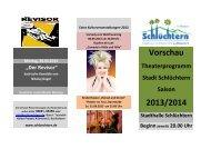 Vorschau Theaterprogramm 2013/2014 - Stadt Schlüchtern