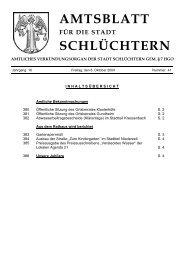 AMTSBLATT SCHLÜCHTERN - Stadt Schlüchtern