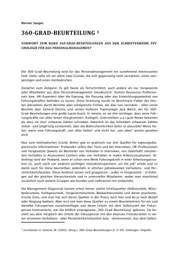 360-GRAD-BEURTEILUNG 1 - Prof. Sarges & Partner