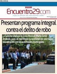 La Subprocuradora de Zona Mexicali, María Elena Andrade, puso ...
