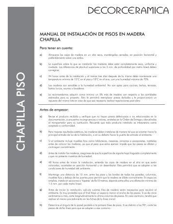 CHAPILLA PISO - Decorceramica