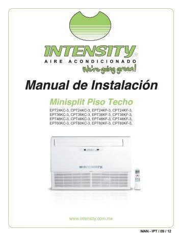 PISO TECHO Manual de instalación - climas   aire acondicionado