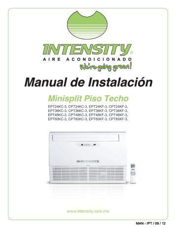 PISO TECHO Manual de instalación - climas | aire acondicionado