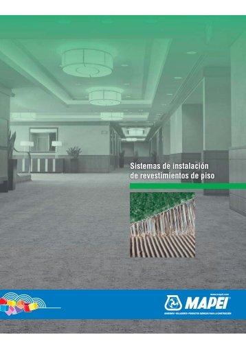 Sistemas de instalación de revestimientos de piso