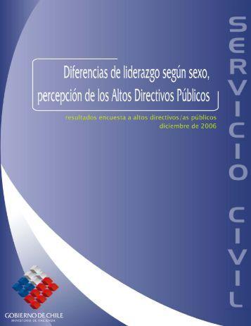 Dirección Nacional del Servicio Civil Morandé 115, 9º piso ...