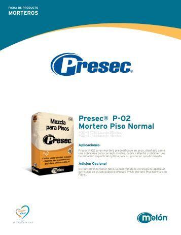 MORTEROS Presec® P-02 Mortero Piso Normal - Melón