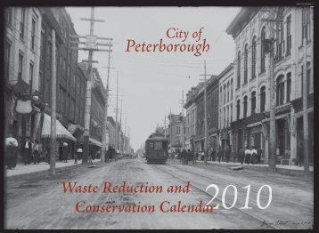 Waste Reduction and Conservation Calendar - City of Peterborough