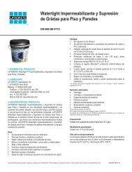 Watertight Impermeabilizante y Supresión de Grietas para Piso y ...
