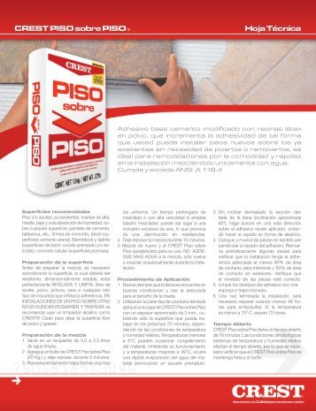 CREST PISO sobre PISO ® Hoja Técnica - crest.com.mx