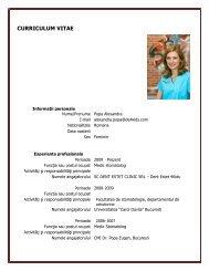 alexandra popa cv - Dent Estet 4 Kids