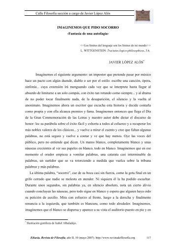 Fantasía de una autofagia - EIKASIA - Revista de Filosofía