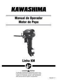 Linha KM Manual do Operador Motor de Popa - CCM do Brasil