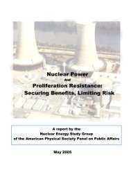 Nuclear Power and Proliferation Resistance - American Physical ...