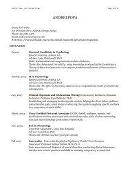 ANDREI POPA - Psychology - Emory University