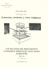 Los relieves del monumento funerario ibérico de Pozo Moro