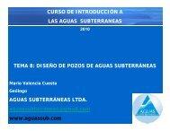 diseño de pozos de aguas subterráneas - Aguas Subterráneas Ltda.