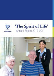 Annual Report 2011 - Calvary Health Care Bethlehem