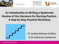 An Introduction to Writing a Systematic Review of the Literature - RCN