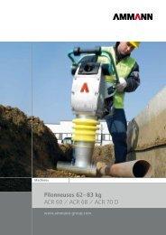 Pilonneuses 62– 83 kg ACR 60 / ACR 68 / ACR 70 D - Ammann