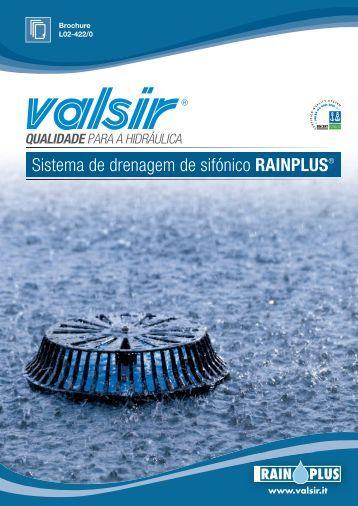 Sistema de drenagem de sifónico RAINPLUS - Oli