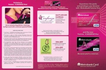 MB Femme I Can Serve FA - Metrobank Card Corporation