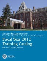 EMI Course Catalog - Emergency Management Institute - Federal ...