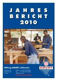 Jahresbericht 2010 (Deutsch) - Amurt