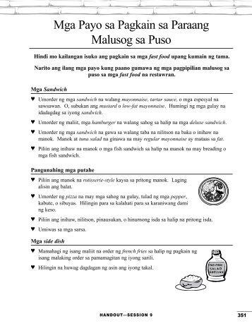 Mga Payo sa Pagkain sa Paraang Malusog sa Puso