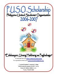 PUSO Scholarship Packet (2006-2007) - Truckee Meadows ...