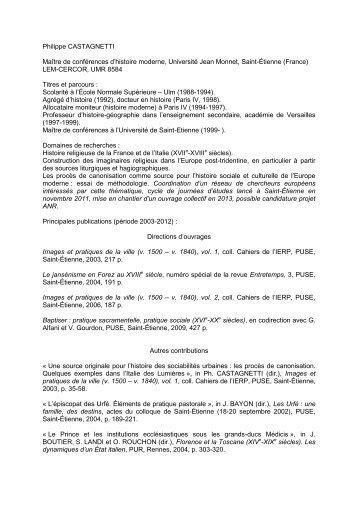 P re fran ois cassingena trevedy ma tre de conf rences - Grille indiciaire maitre de conference ...