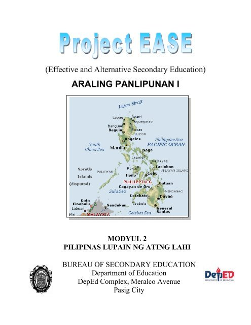 Pilipinas, Lupain ng Ating Lahi - Bureau of Secondary Education