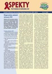 Dodatek ASPEKTY TESTOWANIA W KIERUNKU HIV do pobrania