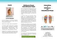 Fachausbildung Fachausbildung in Fußreflexzonen Fußreflexzonen ...