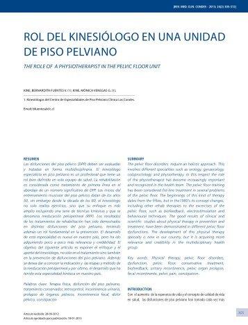 Rol del kinesiólogo en unA unidAd de Piso PelviAno - Clínica Las ...